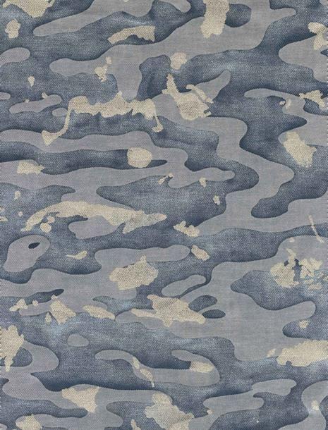 carpet design texture camo isole in faded blue u0026 silvery gold texture - fortuny PFIYJBP