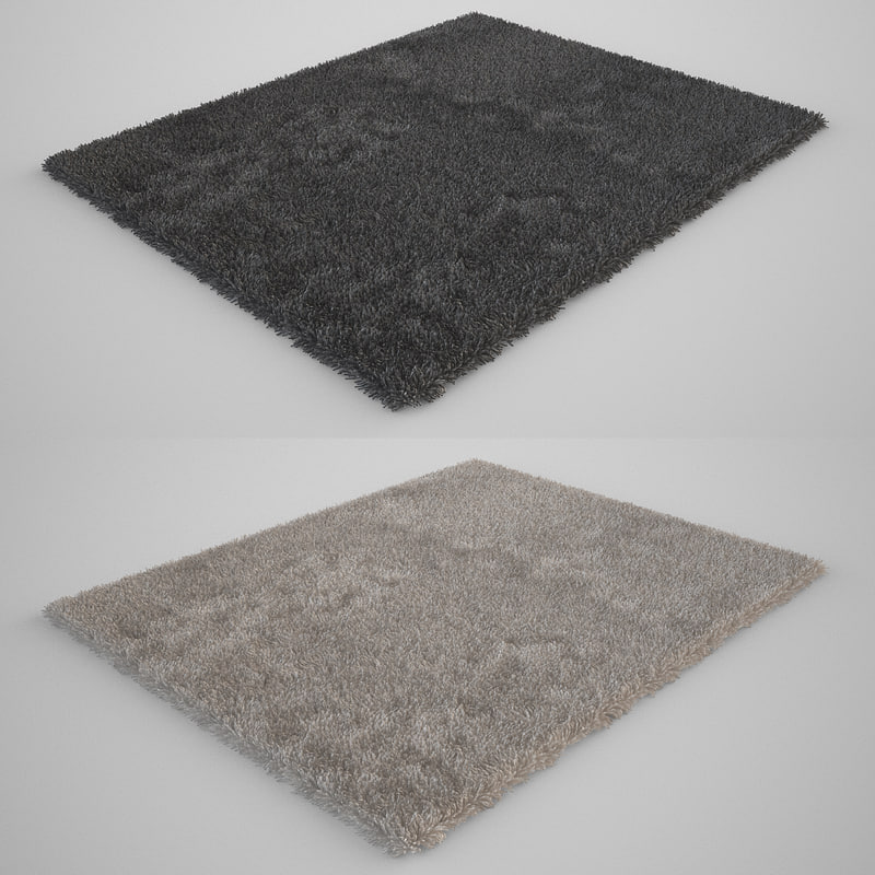 carpet models 3d model realistic carpet rug fur ESTTKPQ