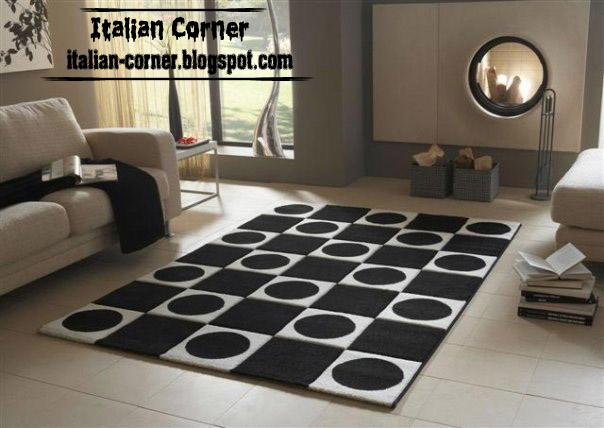 carpet models modern italian carpet, modern rug chess carpet black and white model CJDBOMW