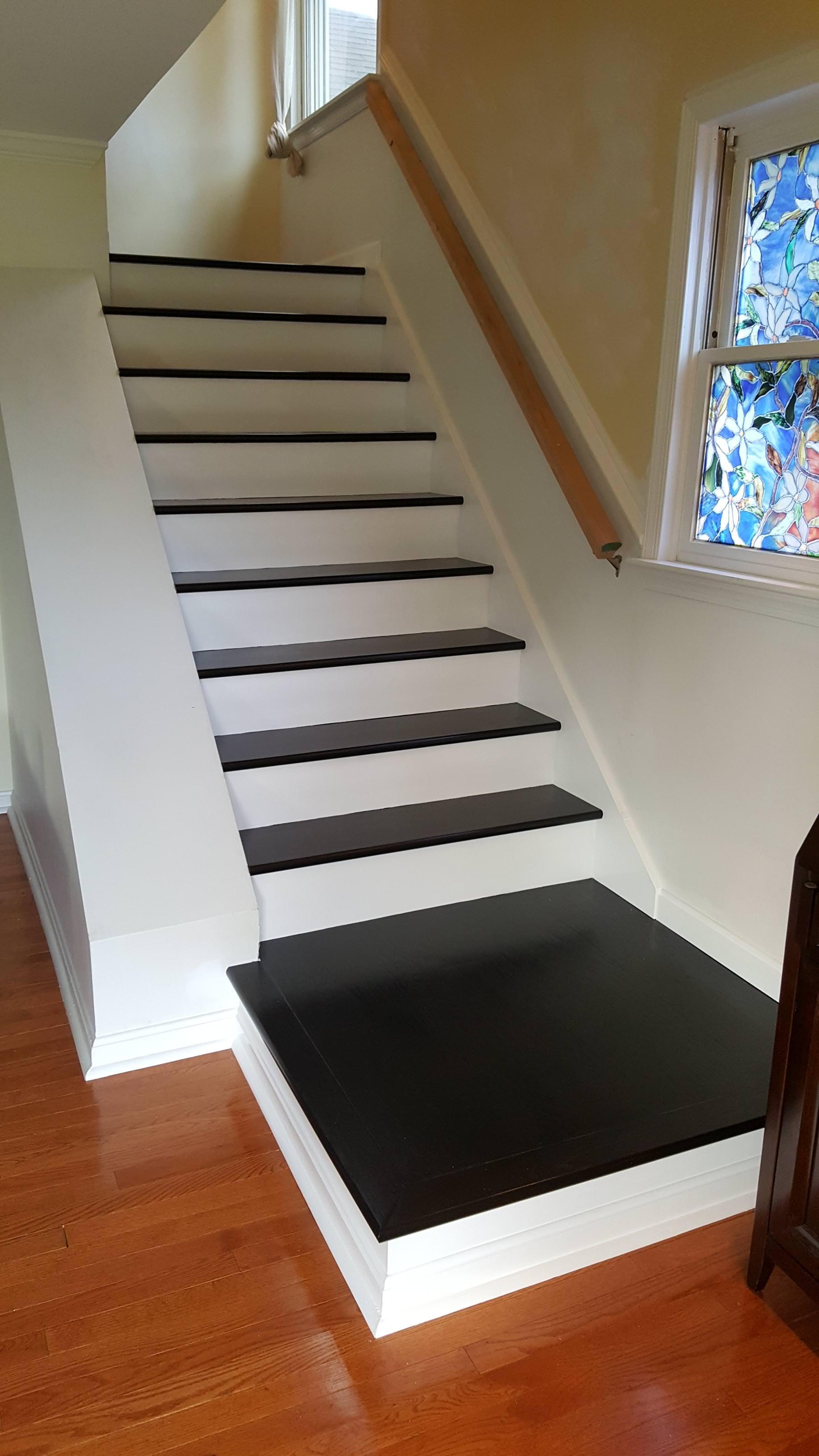 Carpet stairs i converted my carpet stairs to hardwood - album on imgur UFWRHOH
