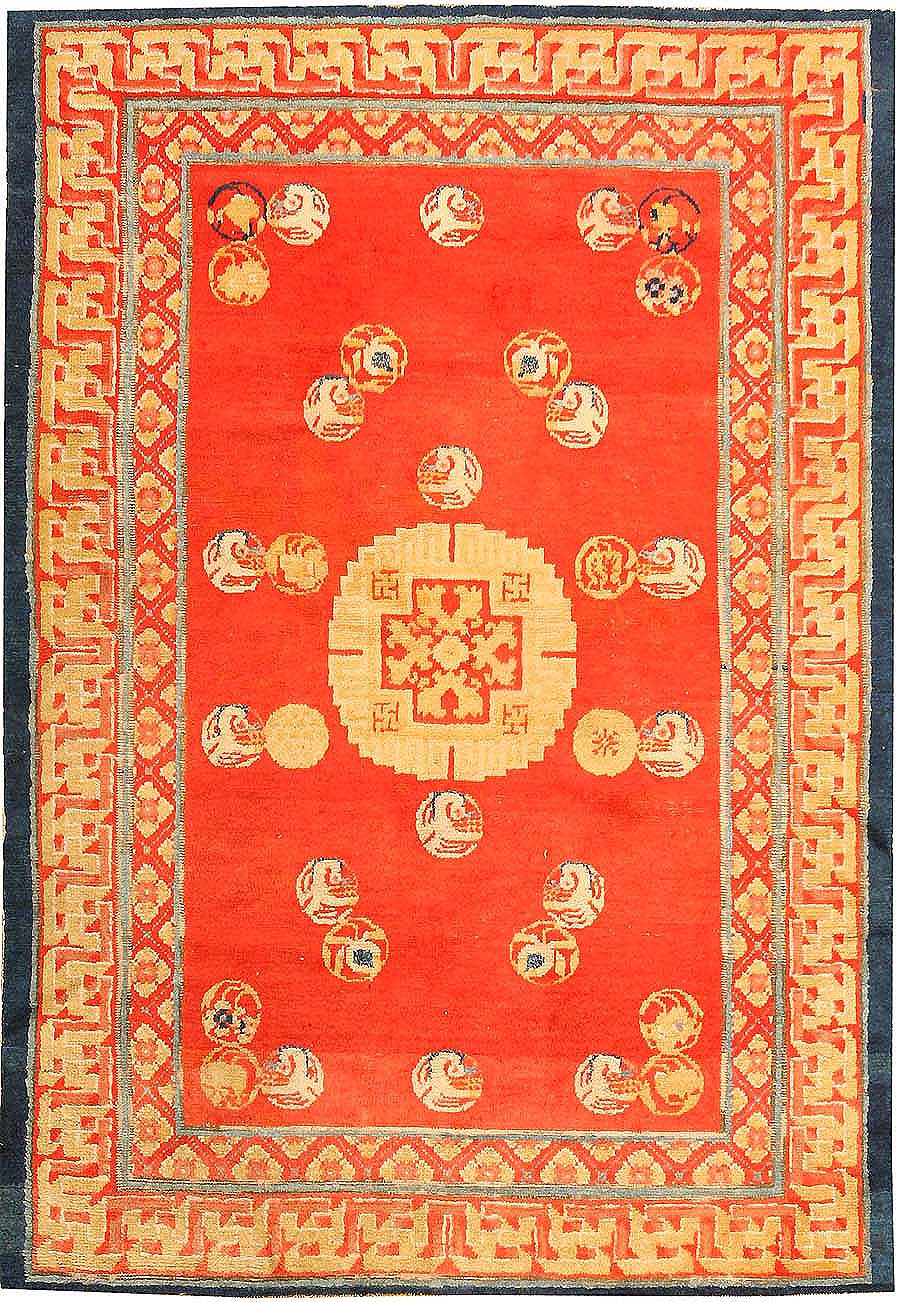 chinese rugs red color background ningxhia antique chinese rug 43024 nazmiyal ZCITAOX