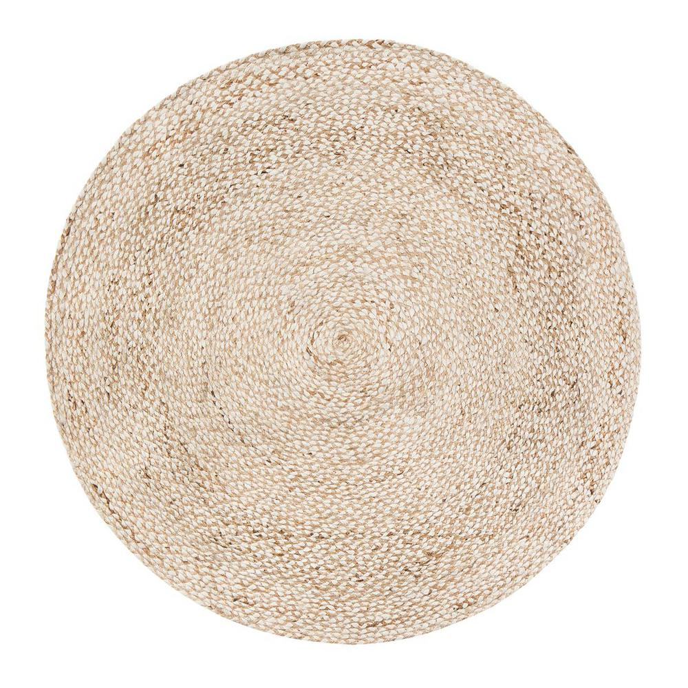 Circle rugs anji mountain speckled hen tan 8 ft. round area rug SJRFVBW