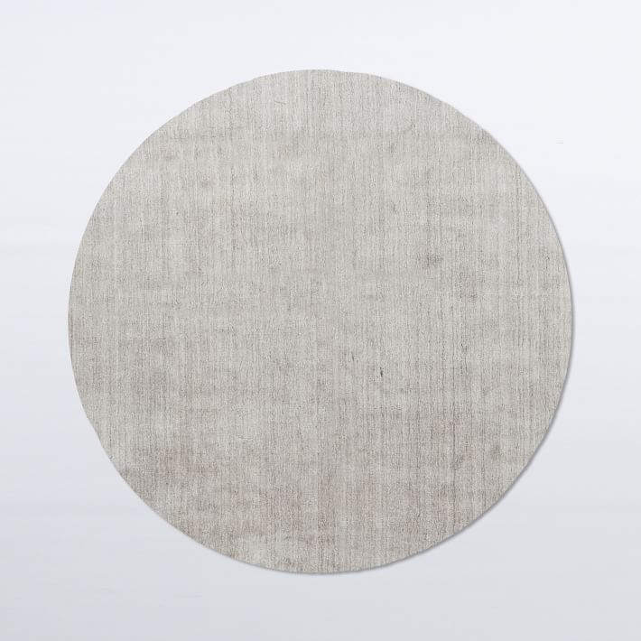 Circle rugs hand-loomed shine rug - round | west elm NDEOCGX