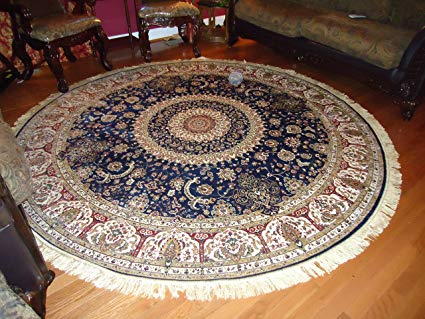 Circle rugs luxury large round rugs silk traditional area rugs navy circle rugs persian JFZOYFW