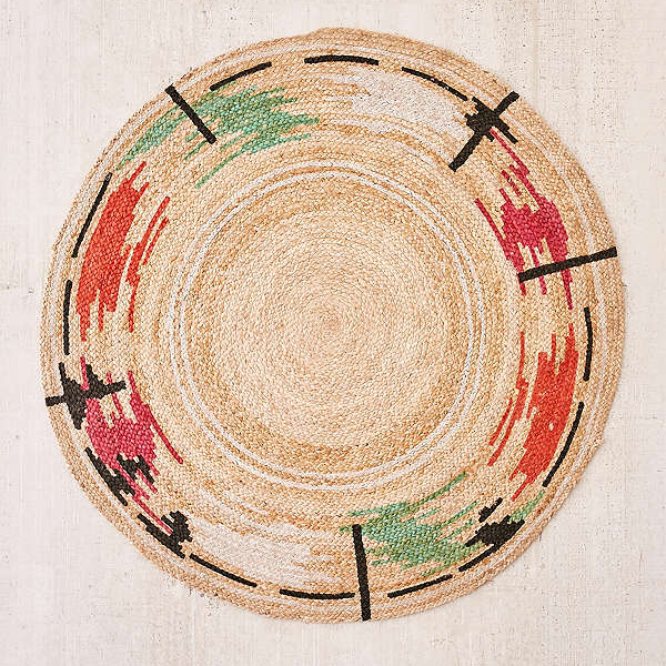Circle rugs thalia basketwoven jute round rug at urban outfitters MTJKEOP