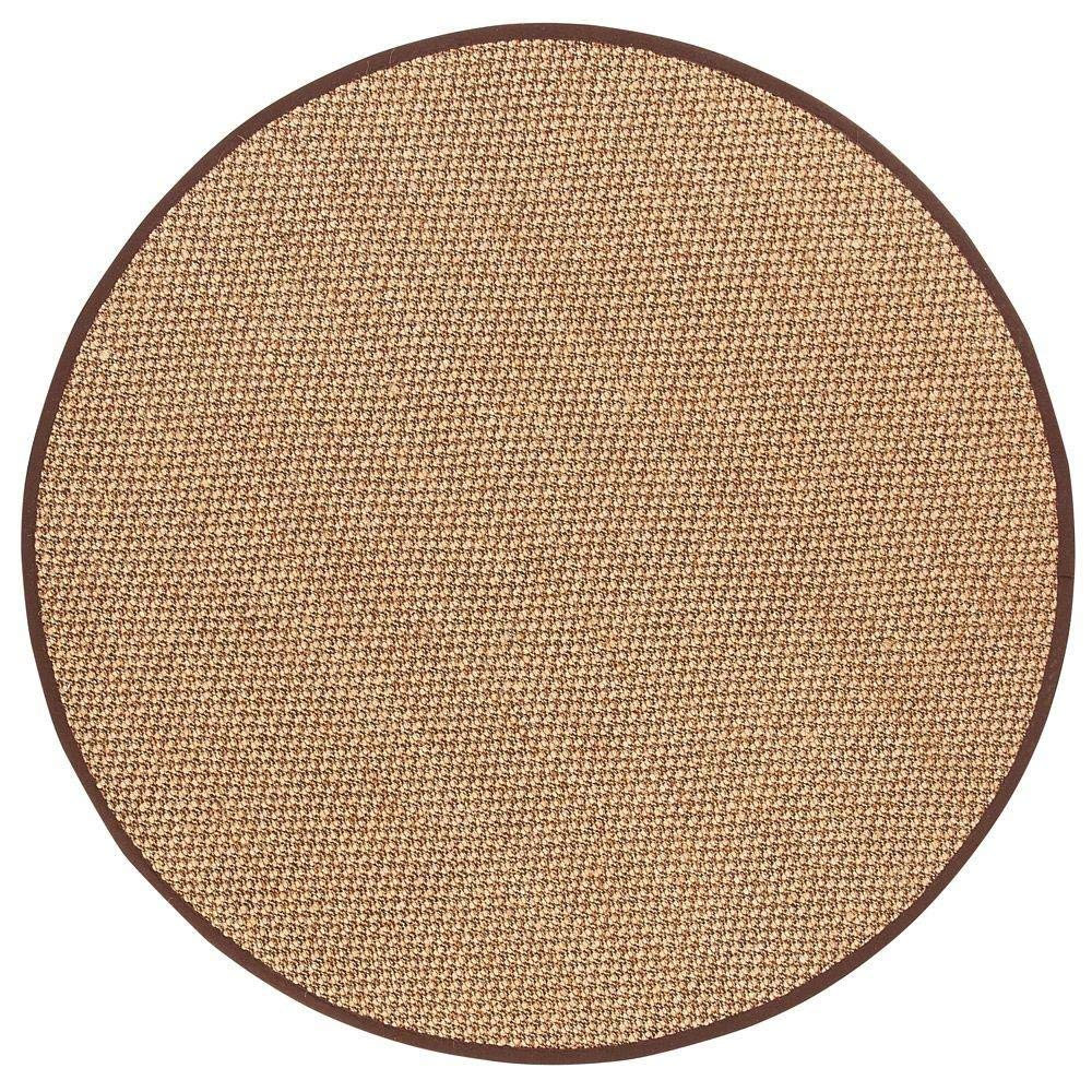 circular rug amazon.com: adirondack sisal area rug, 8u0027 round, chocolate: kitchen u0026 dining XEPOFIT