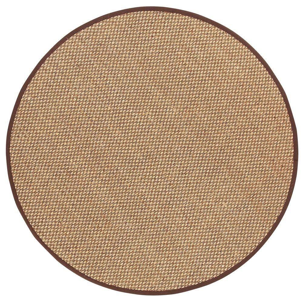 circular rug amazon.com: adirondack sisal area rug, 8u0027 round, chocolate: kitchen u0026 dining XEPOFIT