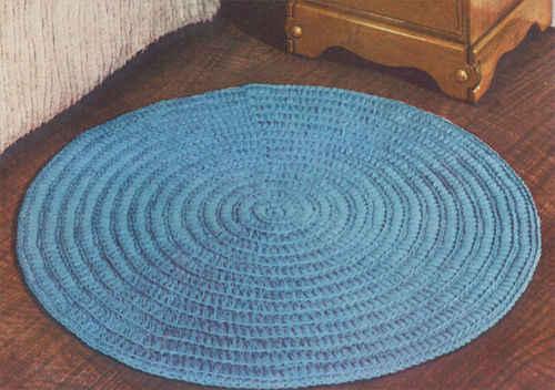 circular rug - free crochet pattern ECGVQRO