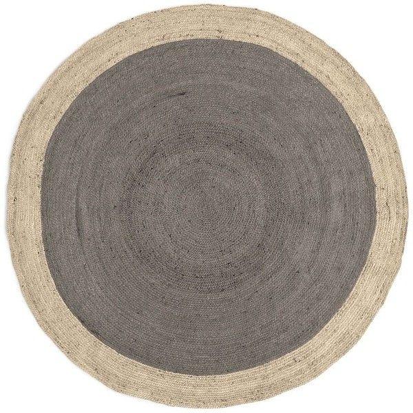 circular rug west elm spo bordered round jute rug, 6u0027 round, platinum (5 855 LXCJWTO