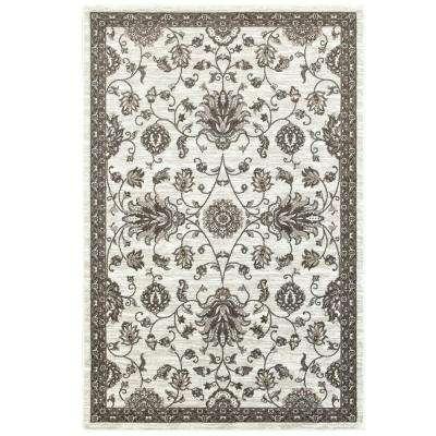 classic white rugs adana white/brown 5 ft. x 7 ft. vibrant indoor area rug BBTNRLT