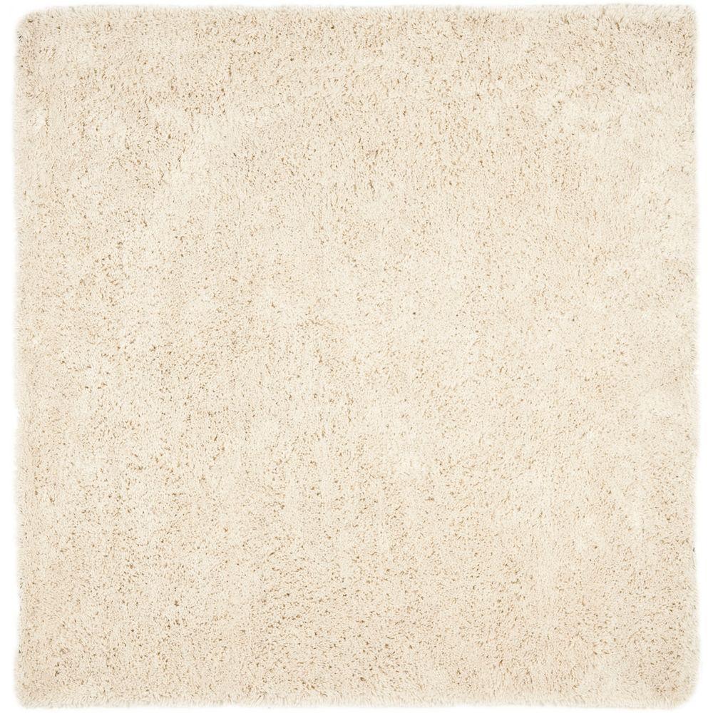 classic white rugs safavieh classic shag ultra white 9 ft. x 9 ft. square area rug SKFZJTV