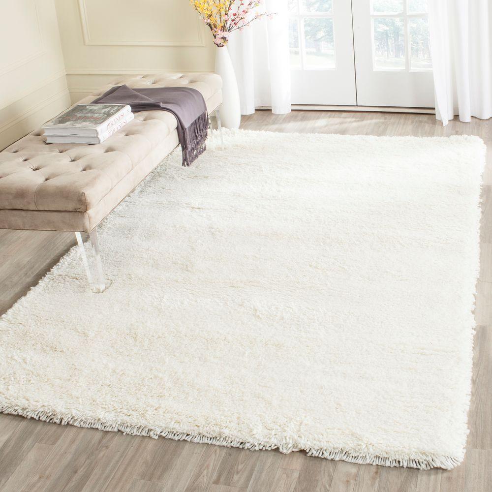 classic white rugs safavieh classic shag white 5 ft. x 8 ft. area rug PUBZWDG