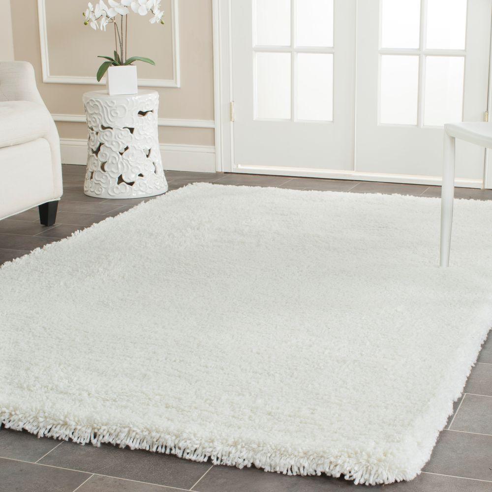 classic white rugs safavieh classic shag white 6 ft. x 9 ft. area rug TXCXOIE