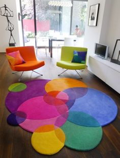 colourful area rug love the colors and style of this rug. bubbles square - contemporary modern BYGBKYU