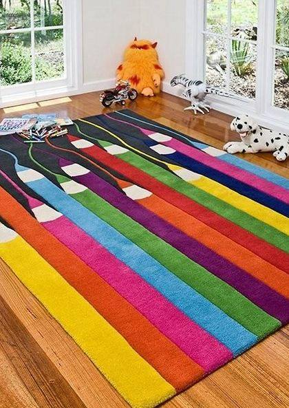 colourful rugs colourful kids pencils rug. YUHRIBF