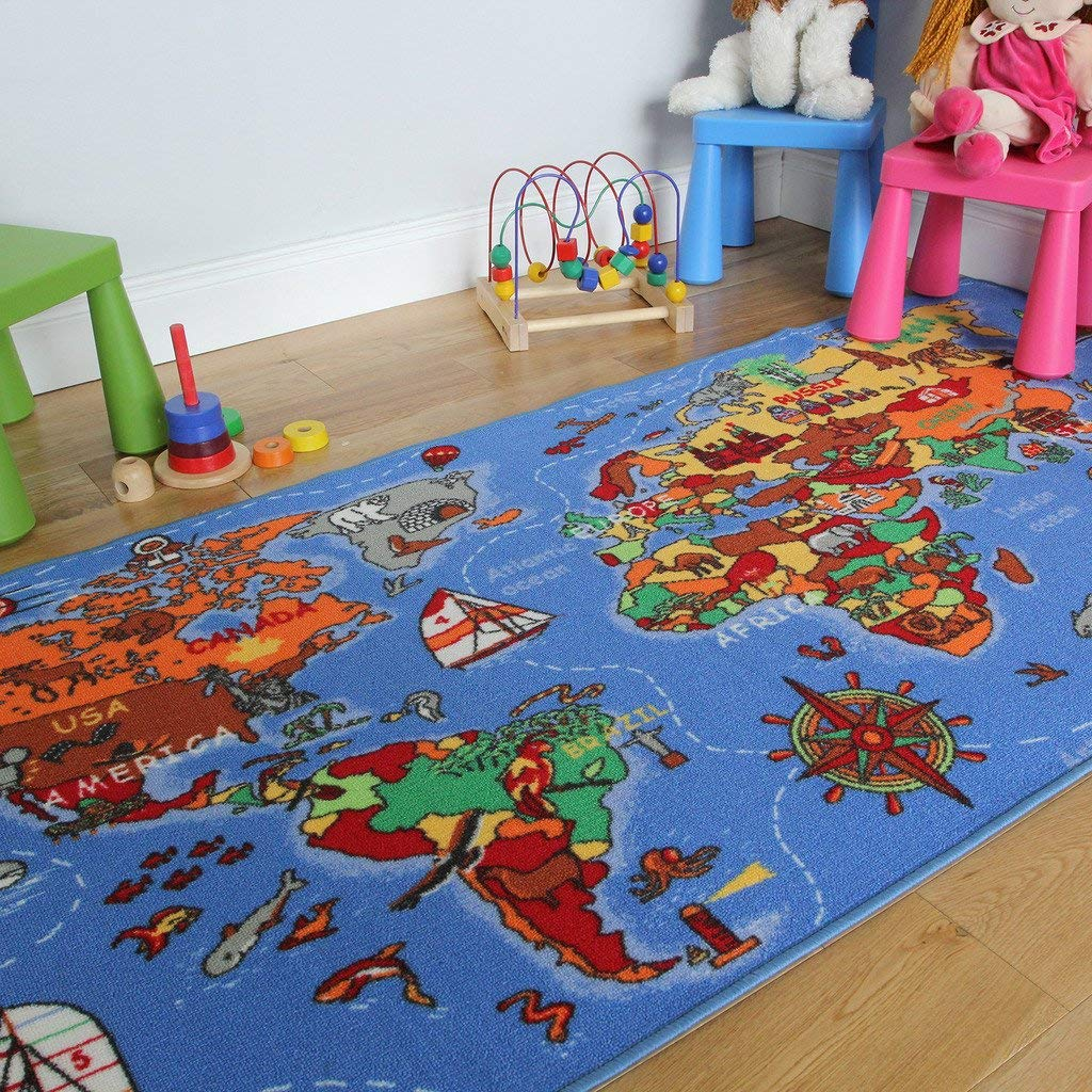 colourful rugs the rug house educational fun colourful world map countries u0026 oceans kids ZUYZCHC