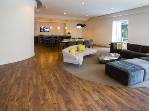 Commercial laminate flooring entertainment area LWXHSJI