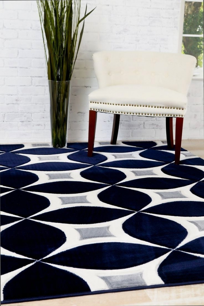 Contemporary affordable rugs navy ... FGSOTHU