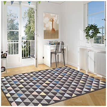Contemporary affordable rugs superior pastel aztec collection area rug, 6mm pile height with jute  backing, CYZBZCQ