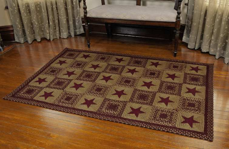 country rugs and door mats miraculous ihf country star braided rugs at kitchen ... KWMTYST
