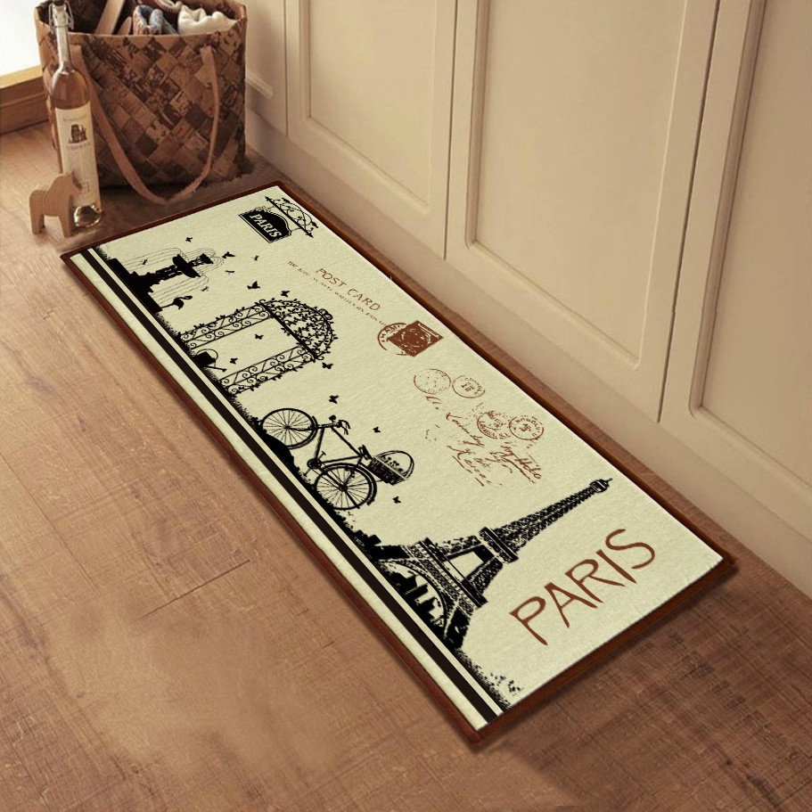 country rugs and door mats modern concept french country kitchen decor with eifel tower printed doormat  la EZCMUTI