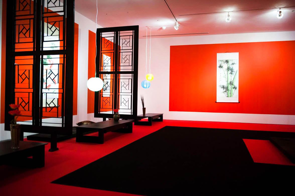 Custom designed carpets custom black and red event carpet in opium den designed by karen tam PILBNYL