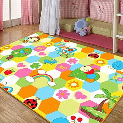 Cute rugs ,cute honeybee kids living room carpet,elegant colorful rainbow large area  rugs,sweet flowers SCGHVJU