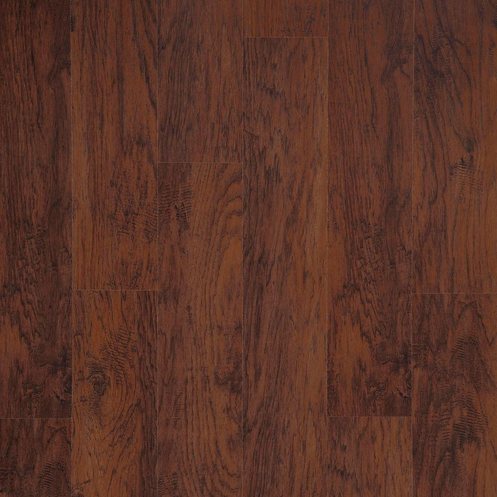 dark wood laminate flooring trafficmaster dark brown hickory 7 mm thick x 8-1/32 in. wide UFFNLVZ