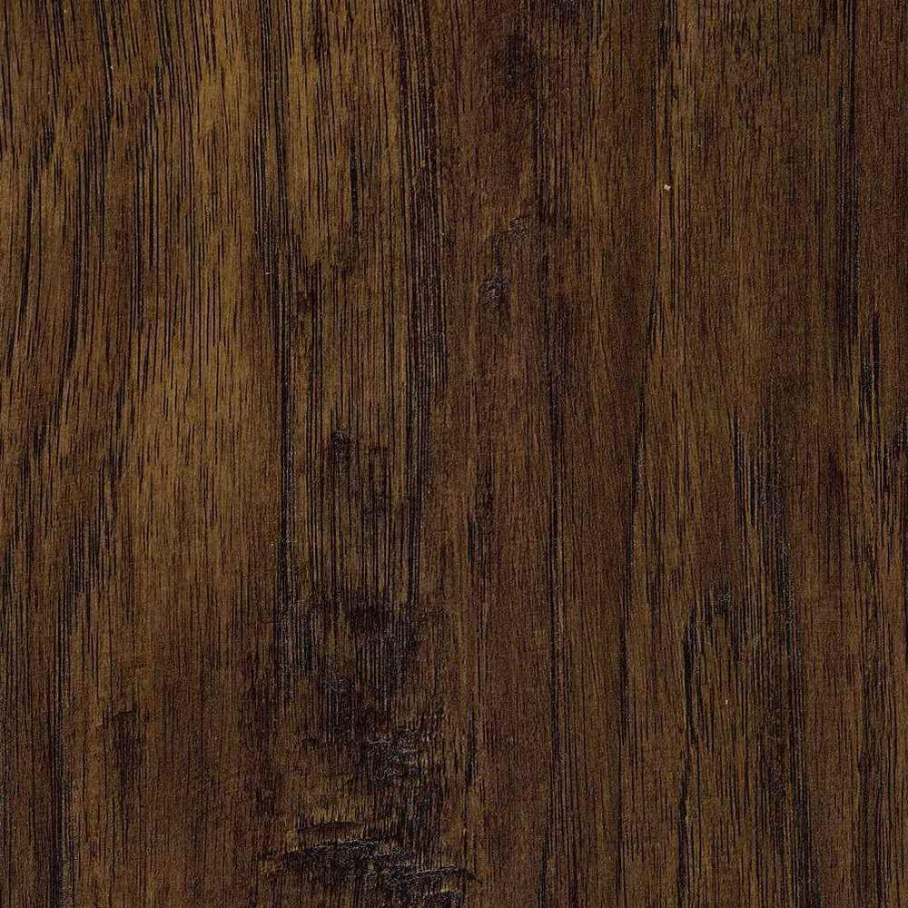 dark wood laminate flooring trafficmaster hand scraped saratoga hickory 7 mm thick x 7-2/3 in. wide x TNEUQYG