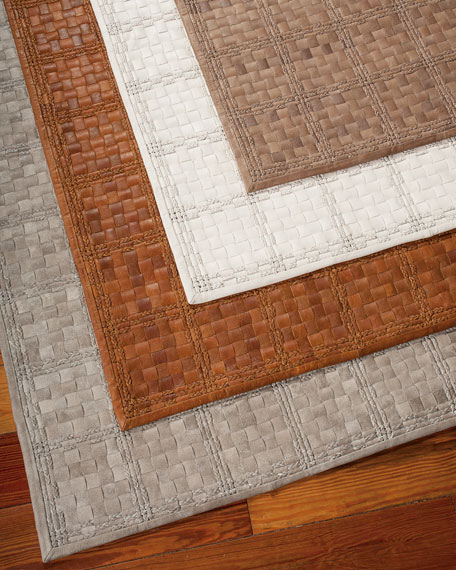 derby woven leather rug, ... WEDOGLD