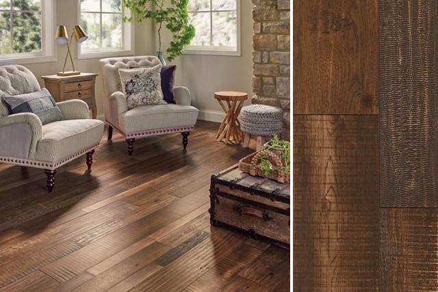 distressed hardwood flooring rustic wood flooring in the living room - eaxwrm5l405x QSQXSOP