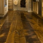 Weathering distressed wood flooring
