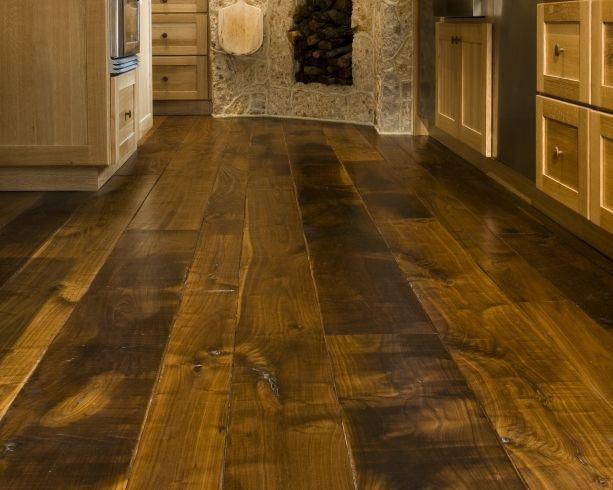 Weathering distressed wood flooring