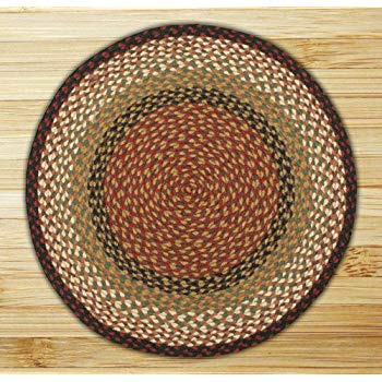 earth rugs round area rug, 5.75u0027, burgundy/mustard TPPAKHK