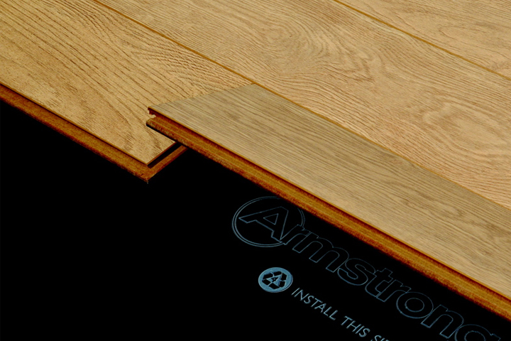 Floating wood floor hardwood installation via the locknfold method OALCGYR