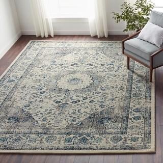 Floor rug safavieh evoke grey/ ivory rug (8u0027 x ... ZSJTUZX