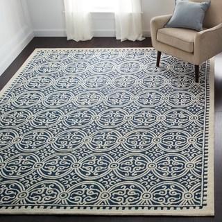 Floor rug safavieh handmade moroccan cambridge navy blue wool rug (more options  available) WUTVBXE