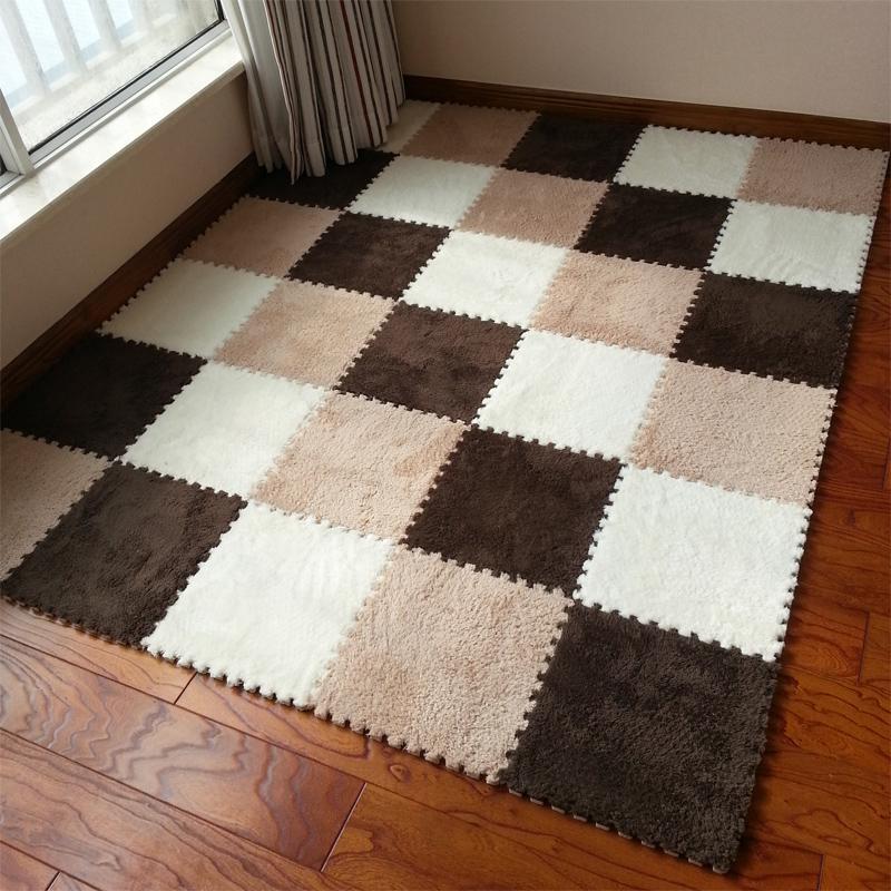 Floor rug warm living room floor mat cover carpets floor rug soft area rug puzzle FIFGUBW