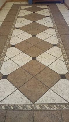 Floor tile designs custom tile floor pattern created by debra levy, interior designer and  professional RFIBTIL