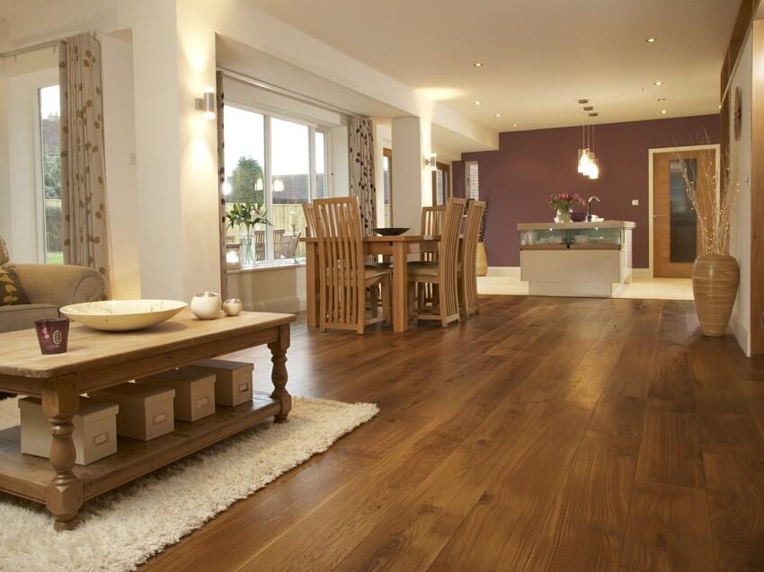 fumed character oak flooring ... BMHJDUO
