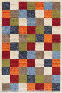 Funky rugs image is loading zante-rug-multi-coloured-squares-checked-tiles-funky- GSGCNQD