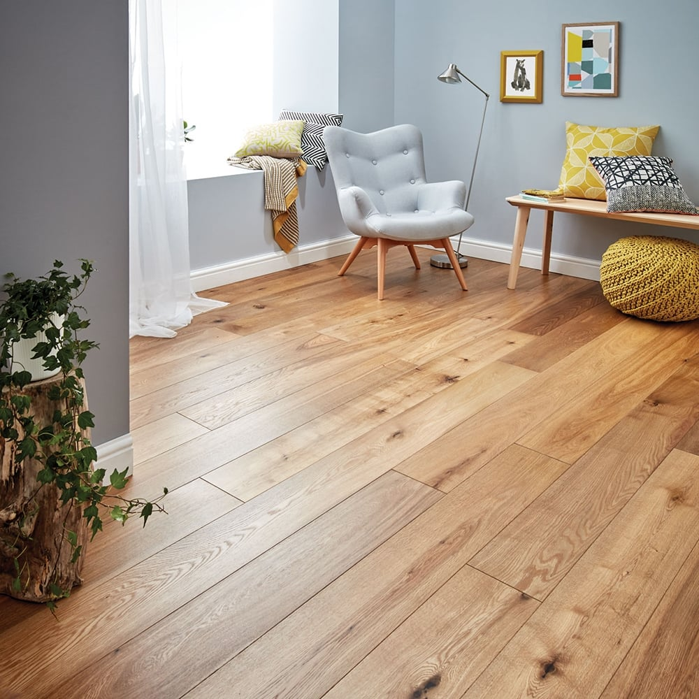 gold series solid oak flooring 18mm x 150mm brushed and oiled 1.98m2 GDRHGFF