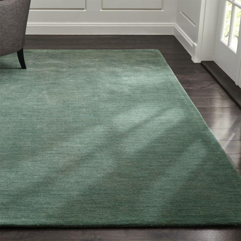 green rugs baxter jade green wool rug | crate and barrel GXGDBOS