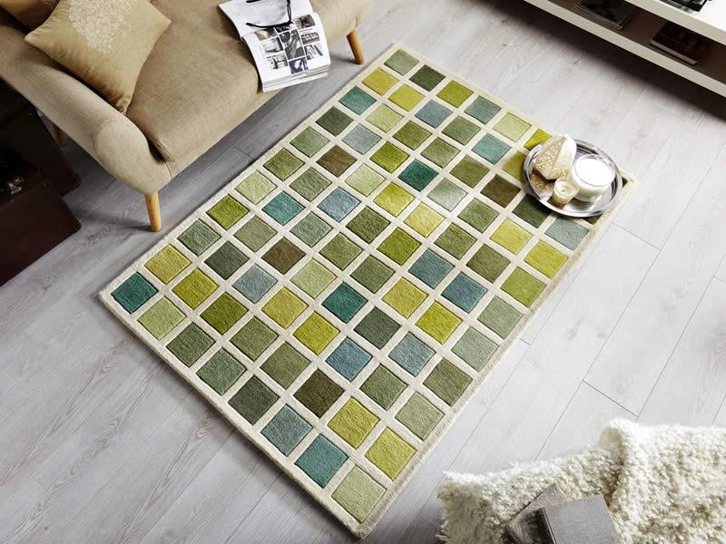green rugs illusion campari green cream XCZSENG
