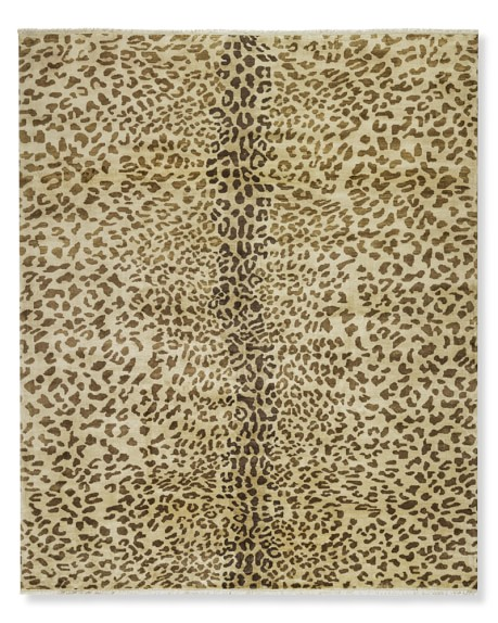 hand-knotted leopard rug LNLWJRM