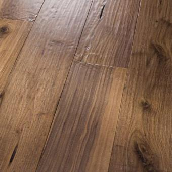Hand scraped hardwood flooring premium amish hand scraped black walnut natural SKCKVFB