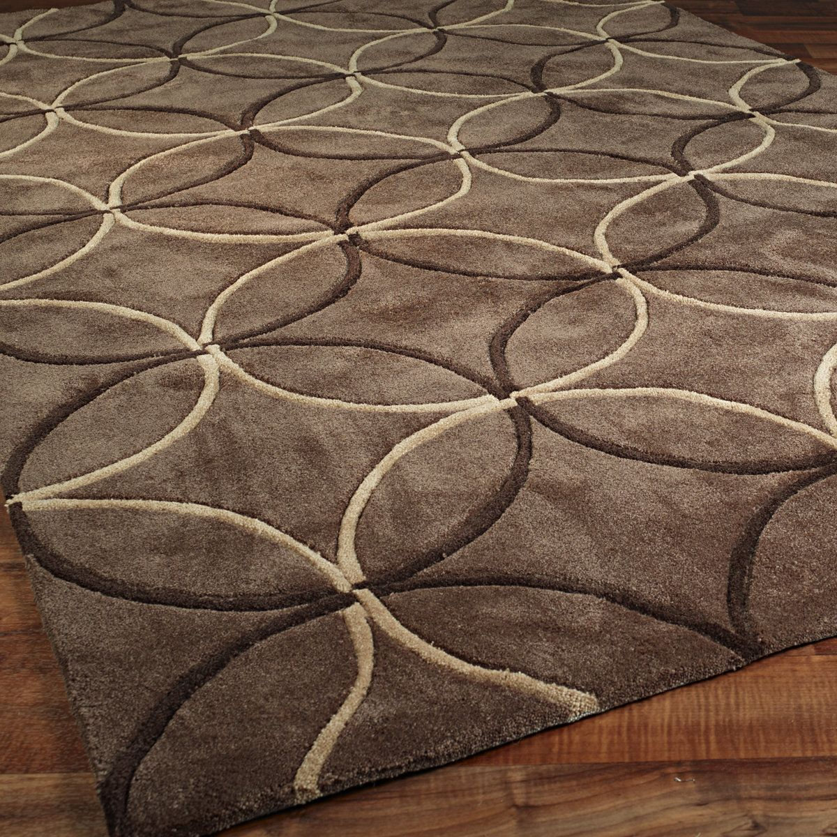 hand tufted rugs rings of style hand tufted rug chocolate_tan OCIAXAC