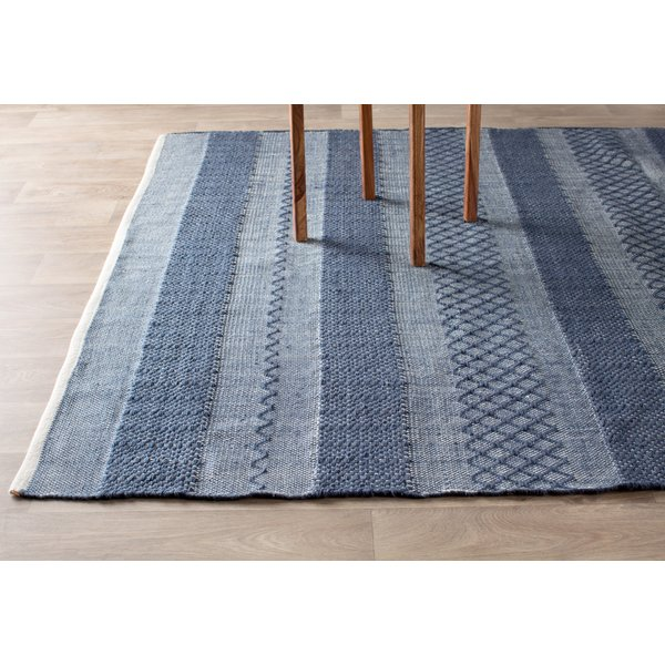 hand woven rugs fab habitat estate hand-woven blue indoor/outdoor area rug u0026 reviews |  wayfair TNPTURS