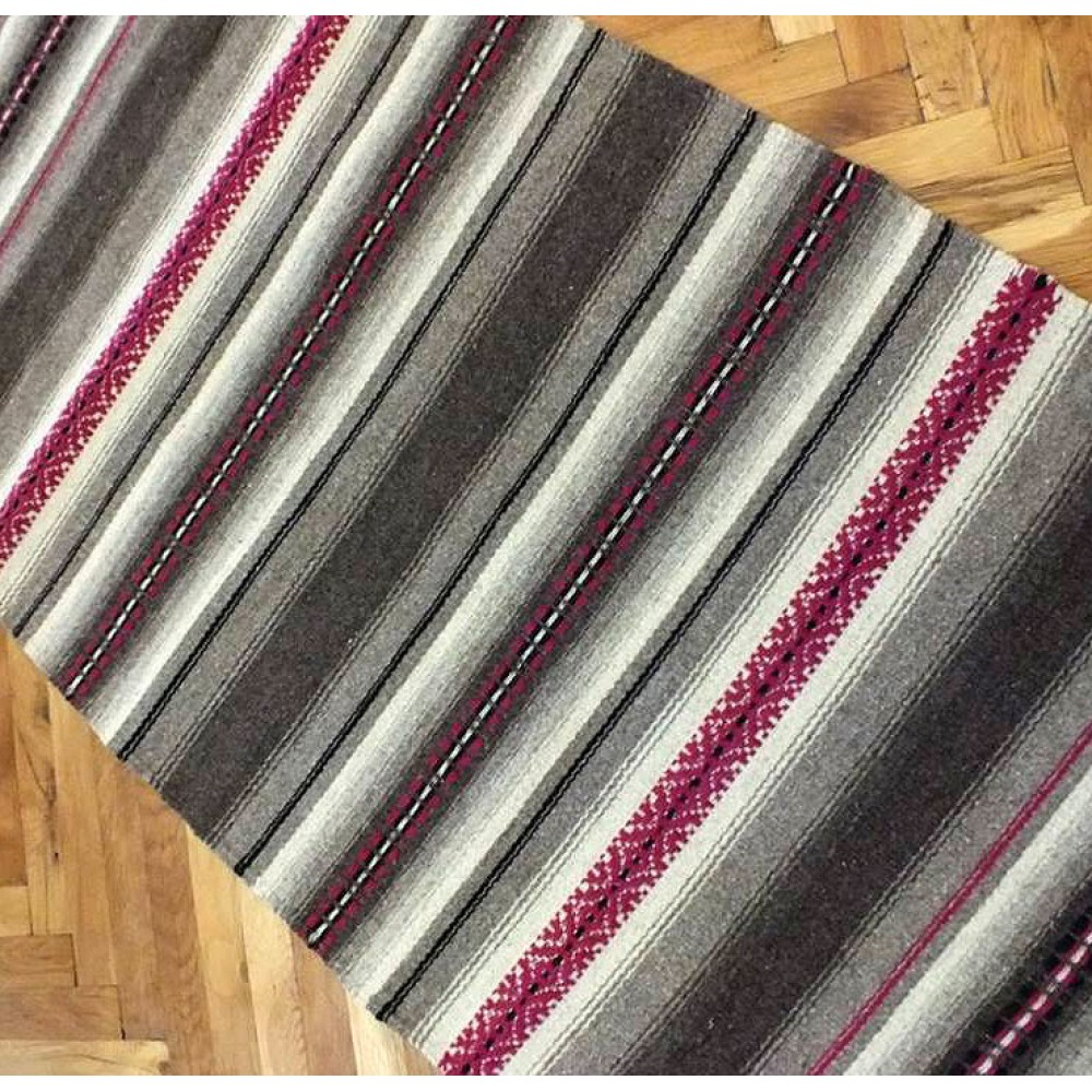 hand woven rugs handwoven rug, handwoven wool rug with two handwoven pillows, handwoven  striped rug, XYWXIOE