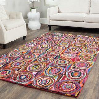 handmade rug safavieh handmade nantucket pink/ multi cotton rug (4u0027 x 6u0027) YOUZTUJ